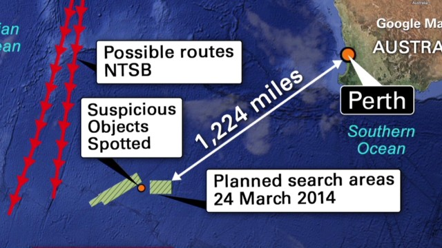 Experts: Flight ended west of Perth