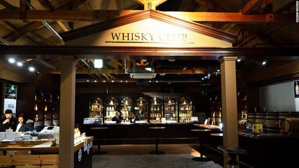 The bar at the Yoichi distillery also stocks rare whiskeys only sold or sampled on site, including a variety of single cask whiskeys.