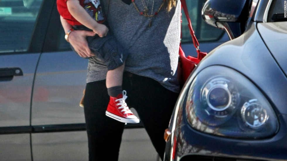 Megan Fox steps out on March 21, the first time she's been spotted in public since giving birth to her second son earlier this year.