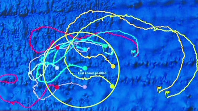Charting missing plane's search zones