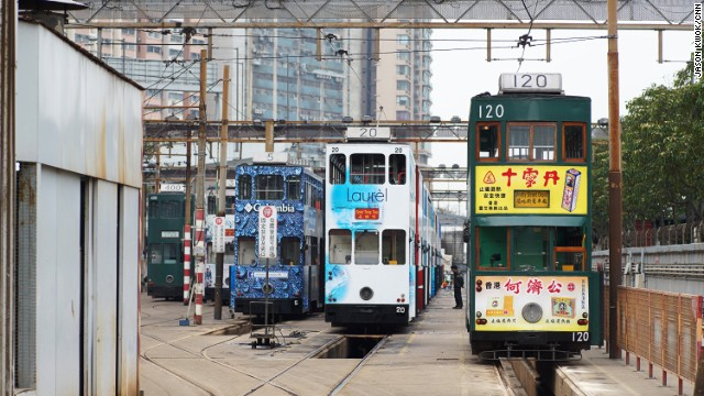 Car numbers are randomly assigned. Number 120 is the oldest tram in operation.