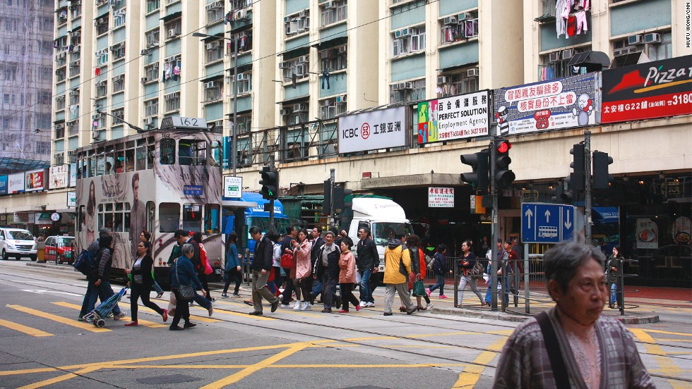 The Tai On Building sits near the end of the tram's eastbound route. The unassuming blue and yellow building contains a hidden cave of delights for street food lovers.
