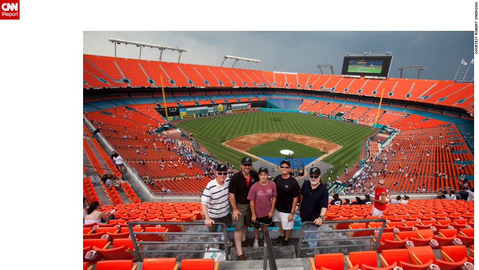 "<strong>Dolphin Stadium (2009):</strong> ""The sight lines were horrible for baseball and you had to sit sideways in your seat to watch the action,"" Ondrovic said. The Miami-area venue, which went by several different names -- now Sun Life Stadium -- was home to the National League's Florida Marlins from 1993 to 2011. The Miami Dolphins football team still plays there."