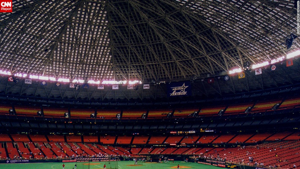 "<strong>Houston Astrodome (1999):</strong> The Astrodome was the first indoor stadium and its name became synonymous with artificial turf. The Houston Astros played there from 1965 to 1999. The National Trust for Historic Preservation included the stadium on its 2013 list of ""most endangered"" places."