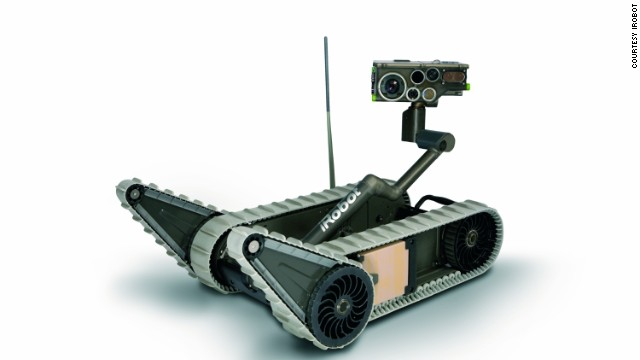 The iRobot SUGV 5, one of the company's military-application robots.