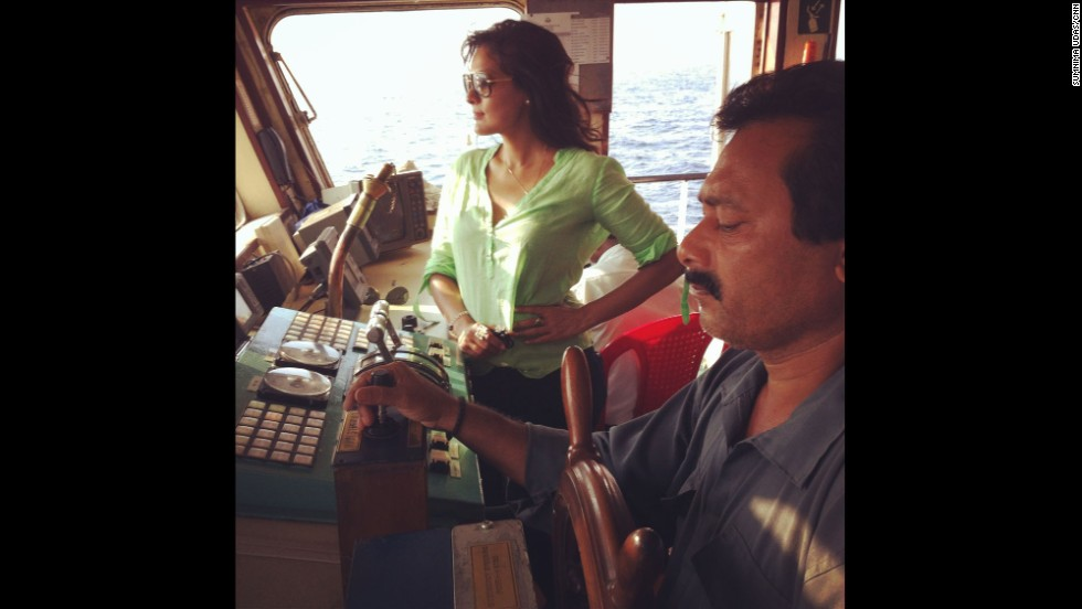 """That's me on board the Ranichang in the Andaman sea, where India launched its search efforts for the missing Malaysian Airlines Flight 370."" By CNN's Sumnima Udas, March 16.  Follow Sumnima on Instagram at <a href=""http://instagram.com/sumnimaudas"" target=""_blank"">instagram.com/sumnimaudas</a>."