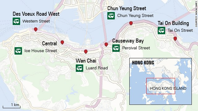 Hong Kong Tramways route