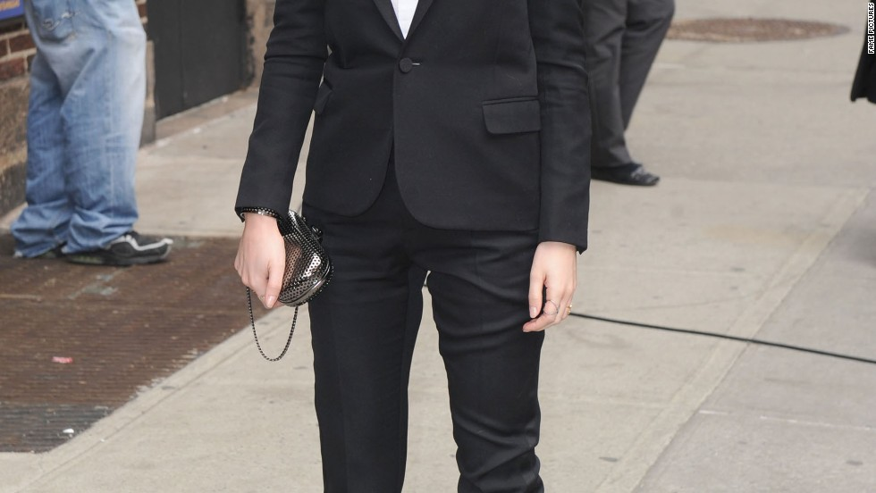 Emma Watson impresses with another fashion forward look in New York City on March 25.