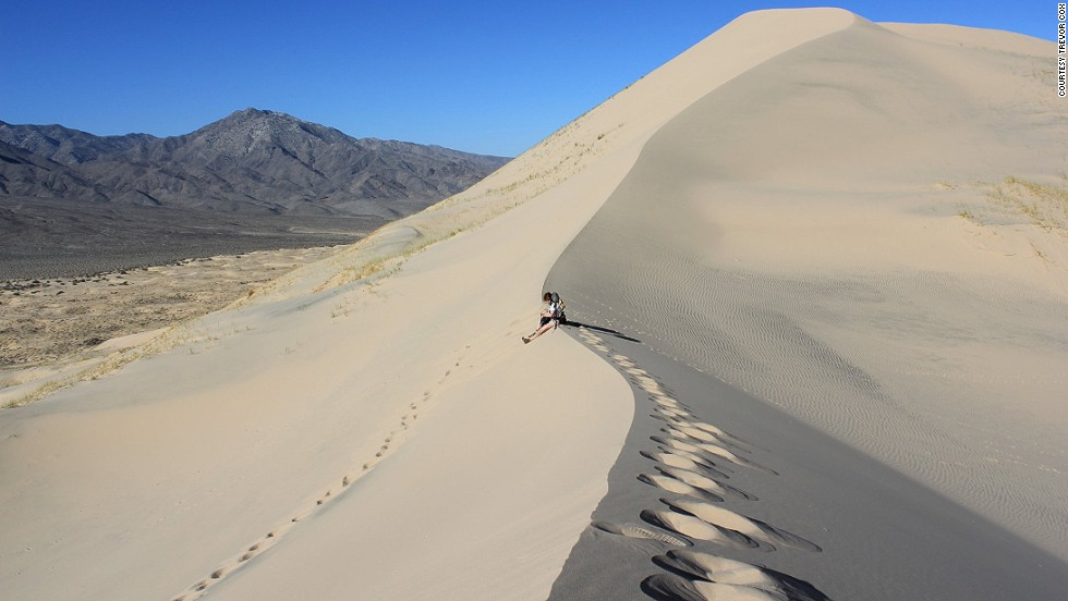 "British acoustic engineer Trevor Cox has toured the world for its best sounds. Here are some favorites, starting with singing sand dunes in California's Mojave Desert. When slid on, peculiarities in the sand produce deep parping sounds resembling propeller aircraft or sousaphone accidents. <a href=""http://www.sonicwonders.org/booming-sand-dunes/"" target=""_blank"">Hear it here</a>."