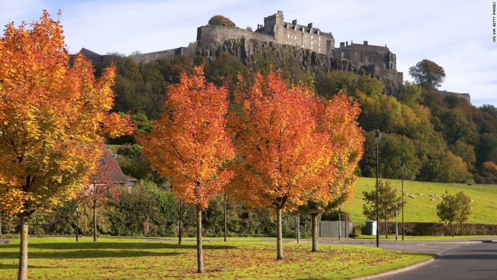 Stirling Castle is good for families to visit because children can dress up in period costumes and play medieval instruments. <br />