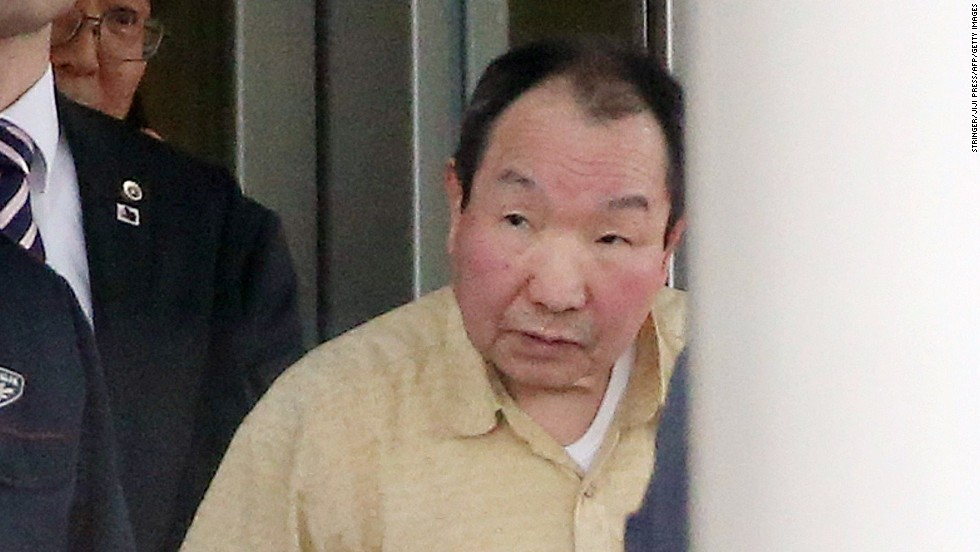 Iwao Hakamada leaves a detention center in Tokyo on Thursday, March 27. Hakamada was convicted of a quadruple murder in 1966, but his death sentence was suspended after DNA testing indicated key evidence against him may have been fabricated, reported NHK, the Japanese public broadcasting organization.