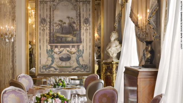 Theatrical service at this regal restaurant in Monaco.