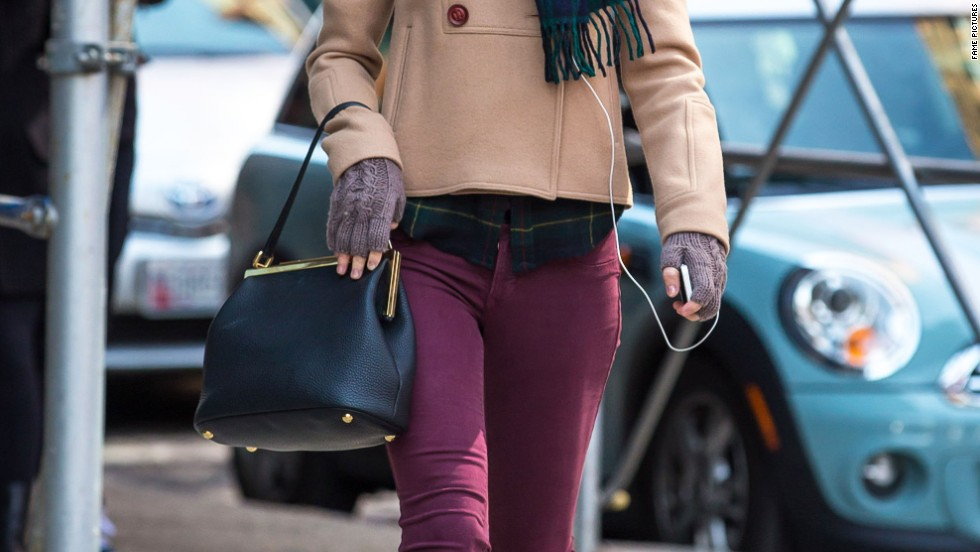 Taylor Swift walks with a soundtrack while in New York City on March 27.