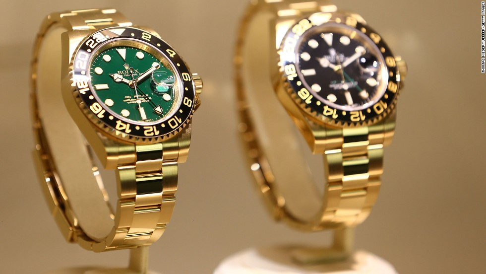 The event is the premier destination for anyone wanting to see the best in luxury watch design. It's where many watchmakers  choose to unveil their latest timepieces, such as these Rolex watches above.