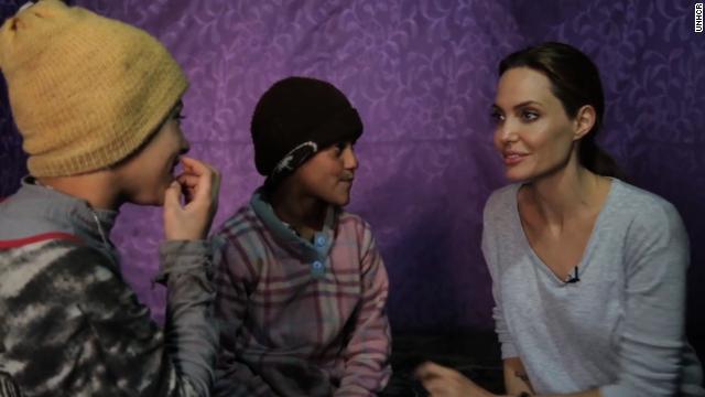 Angelina Jolie visits Syria refugees