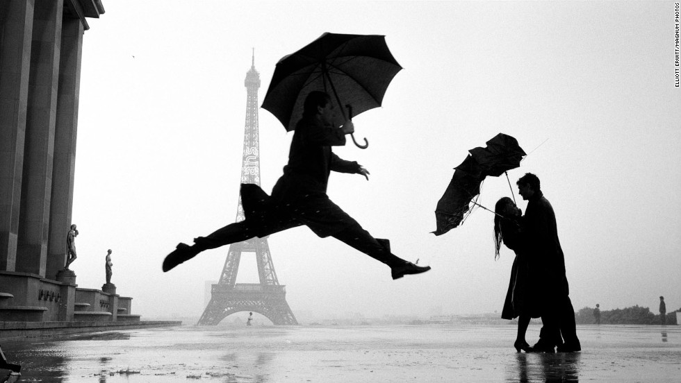 The tower on a rainy Paris day in 1989.