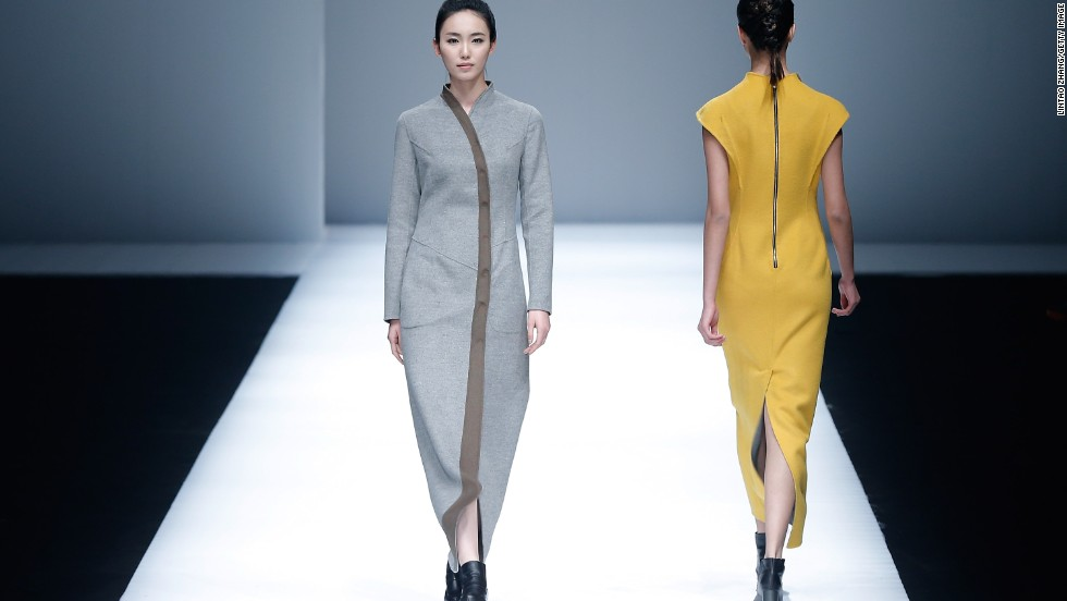 Hong Kong fashion brand Lianvis made its debut late last year in China and returned to the mainland this week. The minimalist designs evoked a futuristic take on the flowing robes often seen in Chinese traditional paintings, with an emphasis on long, lean, feminine shapes.