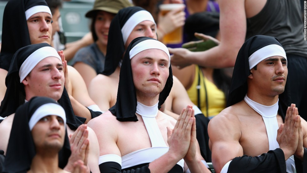 <strong>Six</strong> saintly nuns...