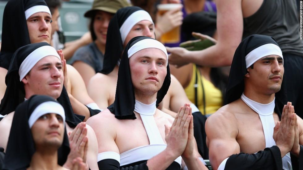 <strong>Six</strong> saintly nuns...