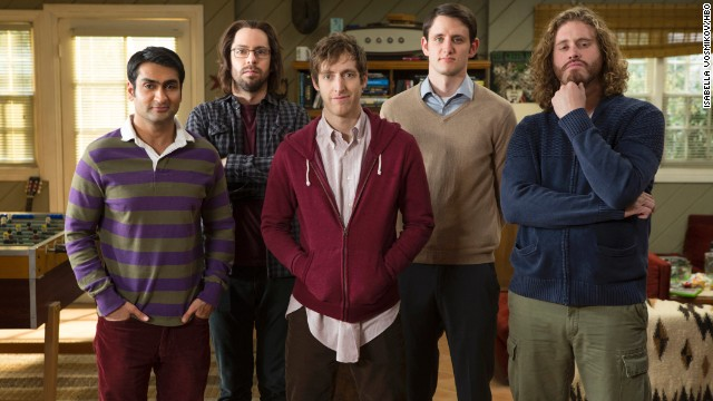 In HBO's new comedy series SILICON VALLEY, five young men -- played by Kumail Nanjiani, Martin Starr, Thomas Middleditch, Zach Woods, T.J. Miller -- living inside a tech incubator.