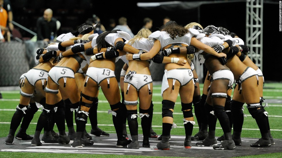 It's Las Vegas, so Sin City's risque version of a football league, the Lingerie Football League, should be no surprise.