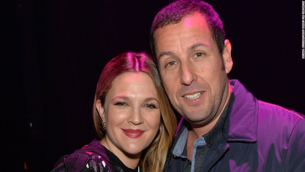 Female Star of the Year award winner Drew Barrymore and Male Star of the Year award winner Adam Sandler attend The CinemaCon Big Screen Achievement Awards on March 27 in Las Vegas, Nevada.