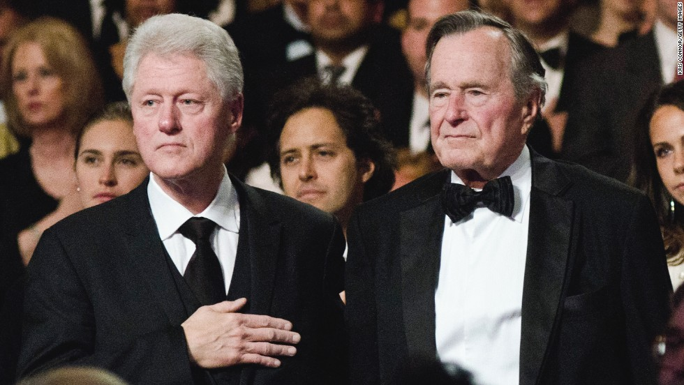 Bush and Clinton attend the Points of Light Institute Tribute in 2011.