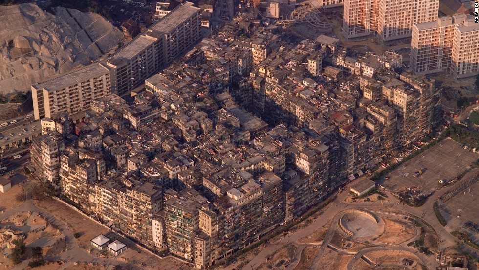 Before it was demolished in 1994, Kowloon Walled City in Hong Kong was considered the densest settlement on earth, with 33,000 people living within the space of one city block.