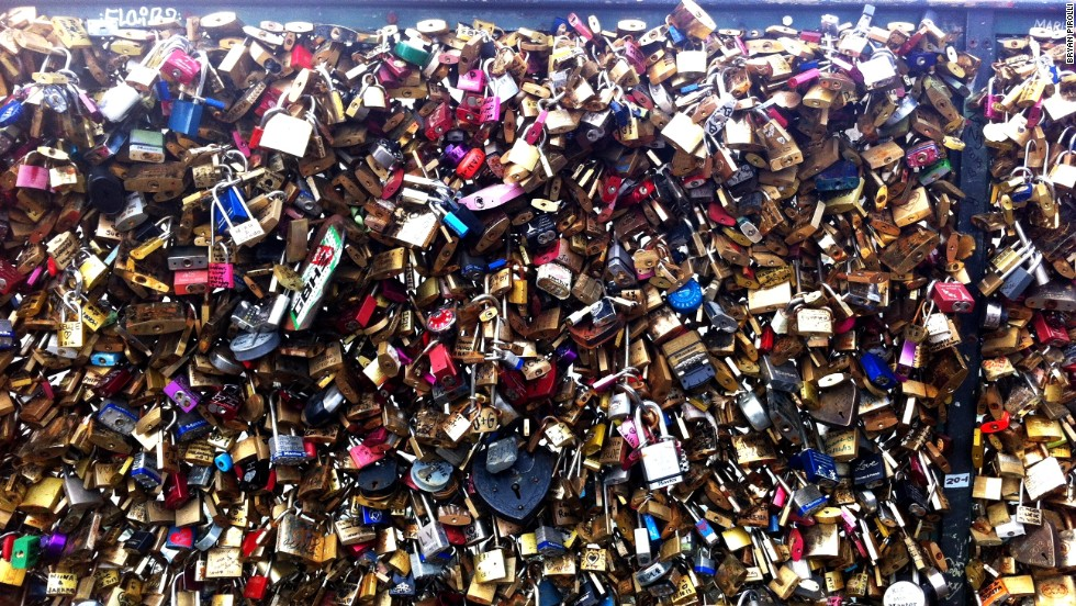 "The trend of attaching locks to Paris's bridges is believed to have started in 2008. American Lisa Anselmo and French-American Lisa Taylor Huff say they co-founded <a href=""http://www.cnn.com/2015/05/30/travel/paris-love-locks-bridges-feat/index.html"">No Love Locks</a> because the padlocks are endangering historic landmarks."