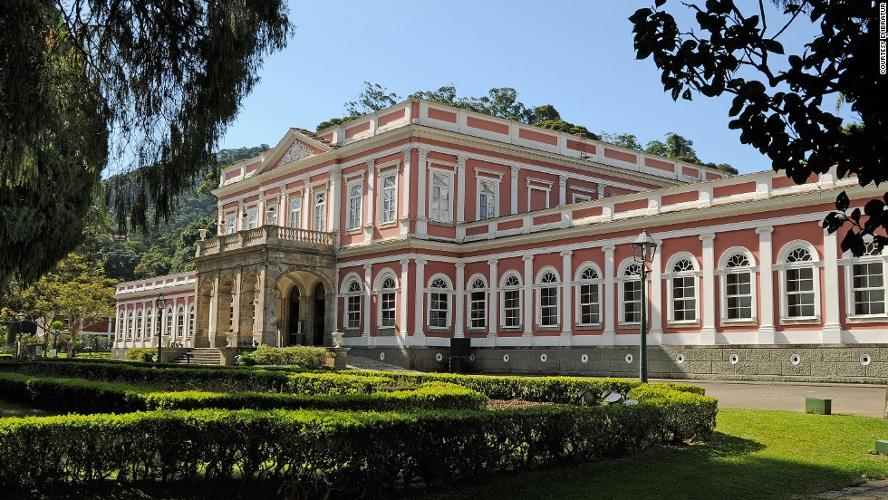 "<strong>Imperial Museum of Brazil</strong><br />The former summer palace in the middle of Petrópolis was built in the mid-1800s. Displays include the Brazilian Imperial Crown and Imperial Carriage. The museum is an hour's drive (70 kilometers) from Rio de Janeiro's city center and is one of Brazil's most popular museums with an average of 300,000 visitors a year.<a href=""http://www.museuimperial.gov.br/"" target=""_blank""><em><br />Imperial Museum of Brazil<em></a></em>, Rua da Imperatriz, 220, Petrópolis, Rio de Janeiro; +55 24 2245-5550; $3.50 per adult, $1.75 per student, teacher and senior over 60, free for children under 7</em><br /><a href=""http://edition.cnn.com/2014/05/30/travel/brazil-team-plane/index.html"">MORE: Plane colors: Graffiti duo let rip on Brazil football team's 737</a>"