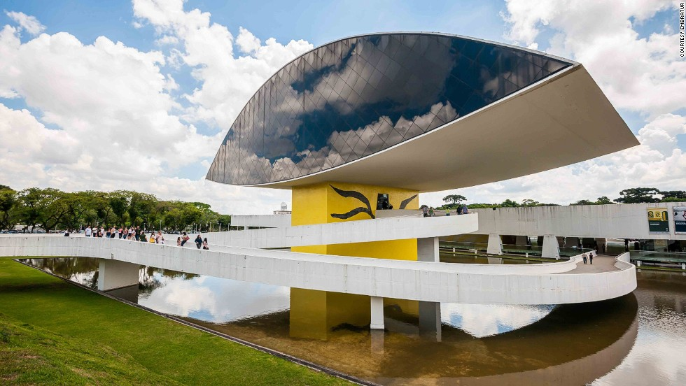 "Oscar Neimeyer was 95 years old when he completed the Museum of the Eye. The museum focuses on art, architecture and design. Popularly known as ""The Eye,"" the tower has four floors of exhibition space.<a href=""http://www.museuoscarniemeyer.org.br/"" target=""_blank""><em><br />Oscar Niemeyer Museum<em></a></em>, Rua Marechal Hermes, 999, Curitiba, Paraná; +55 41 3350 4400</em>"