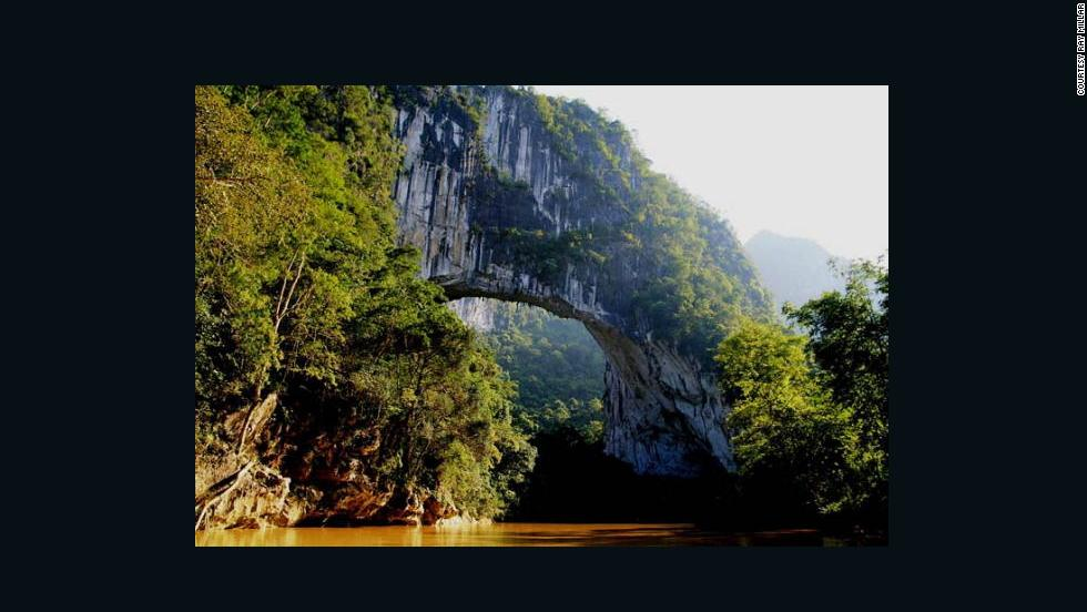 The Fairy Bridge in Guangxi, China has the longest natural bridge span. It's only accessible by a three-hour rafting trip.