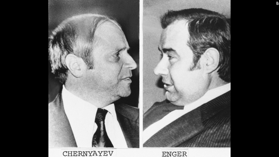 """Covert KGB officers Rudolf Chernyayev and Valdik Enger got ensnared in a 1977 sting operation run by the FBI and the U.S. Navy. They were arrested after taking the bait from an American double agent, convicted of espionage and traded for five Soviet dissidents in 1979. The FBI credits """"Operation Lemon-Aid"""" with giving U.S. authorities a great insight into how Soviet operatives maneuvered in the United States."""
