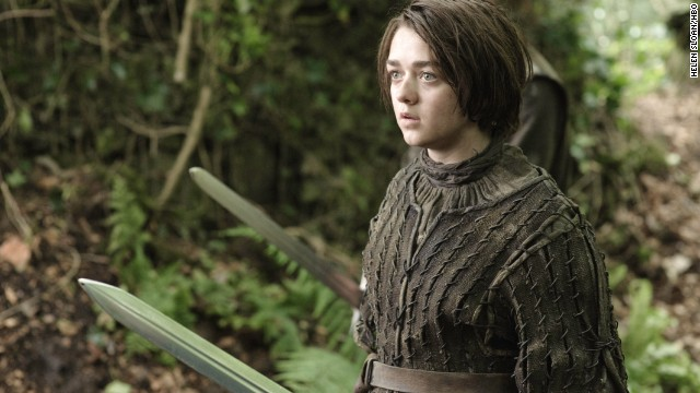 The character of Arya Stark (Maisie Williams) doesn't wait for men to rescue her.