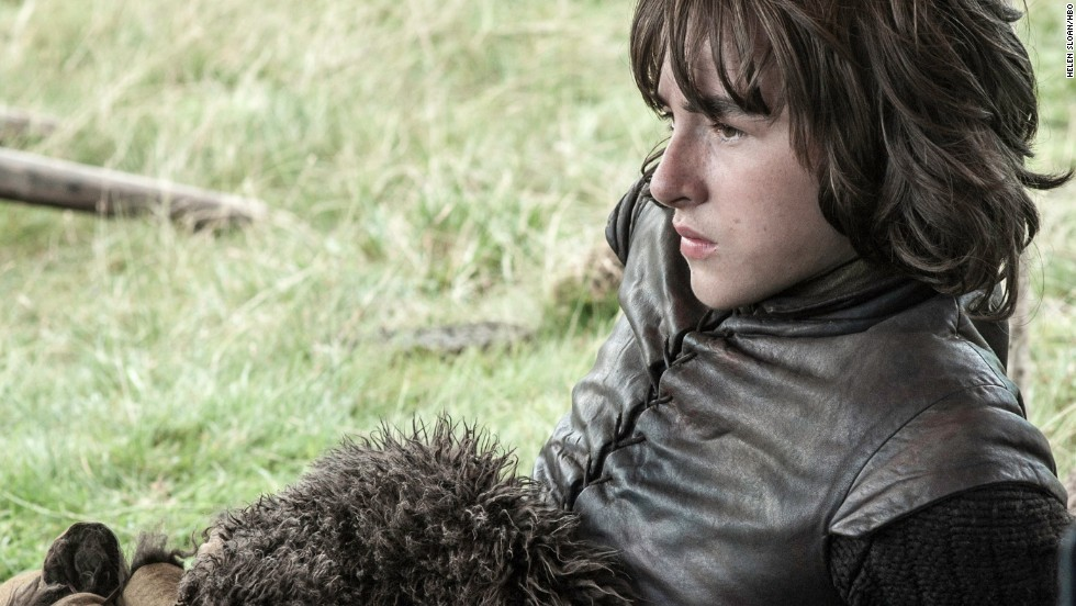 "<strong>Bran Stark (Isaac Hempstead Wright):</strong> Bran Stark, the middle son of the House of Stark, was left crippled from the very first episode of ""Game of Thrones"" but has gained a gift for visions. With his faithful Hodor (Kristian Nairn) by his side for mobility, the now-orphaned Bran has gone beyond the Wall in search of the three-eyed Raven he frequently sees in visions."