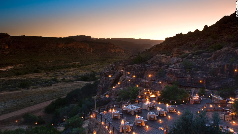 Bushmans Kloof Nature Reserve makes no pretense of being under canvas -- its 16 luxurious rooms and suites are located within a main lodge or individual cottages.
