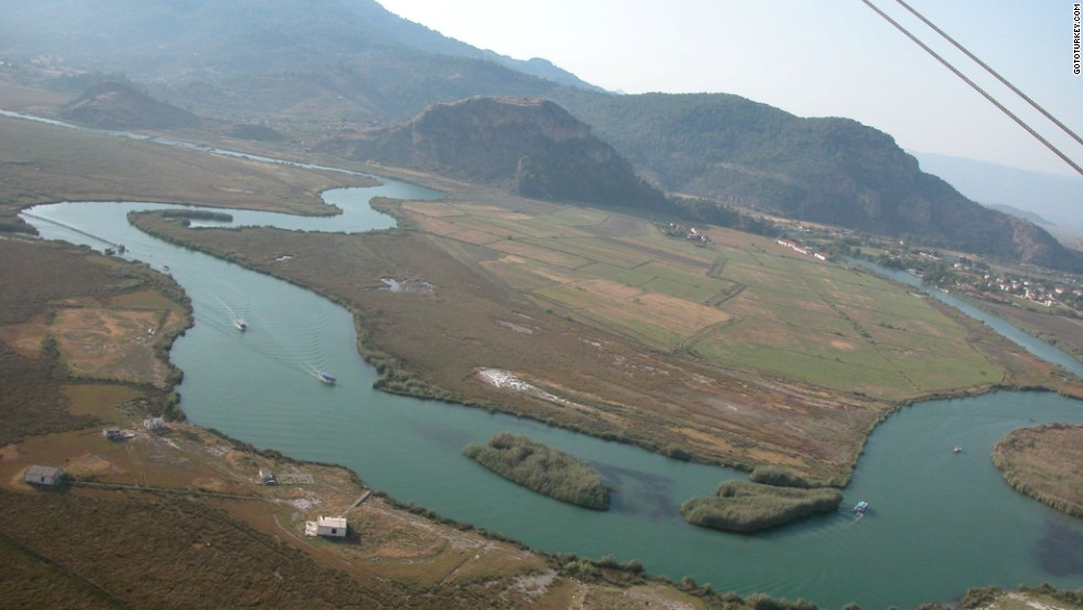 "The Dalyan Delta is an almost-tropical maze of river channels, pools and reed beds. In 1951 it doubled for Africa in the Humphrey Bogart film ""The African Queen."""