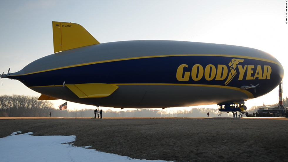 "The Zeppelin's helium-filled ""envelope"" consists mostly of polyester. The older models were made from Dacron and neoprene. The Zeppelin has a semirigid internal skeleton that technically disqualifies it from official designation as a blimp. But Goodyear says it will call the Zeppelin a ""blimp"" anyway."