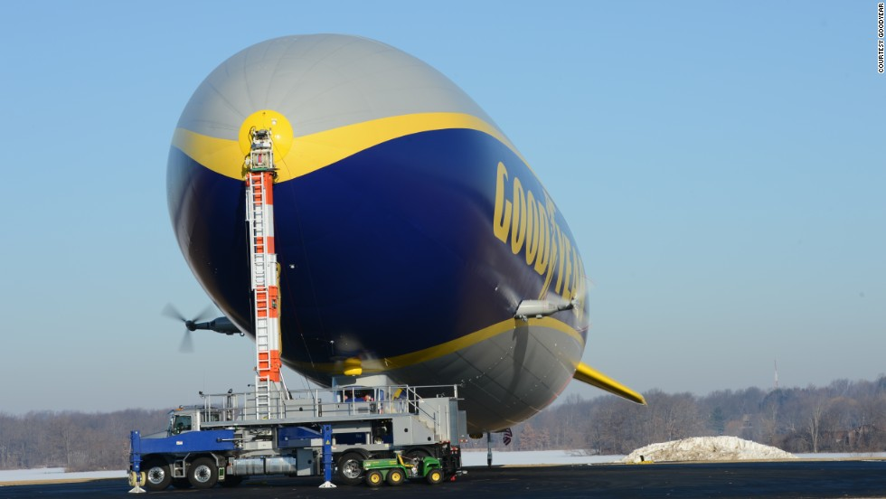 The new Zeppelin measures 54 feet longer and -- with three engines instead of two -- flies 19 mph faster than the older Goodyear blimps.