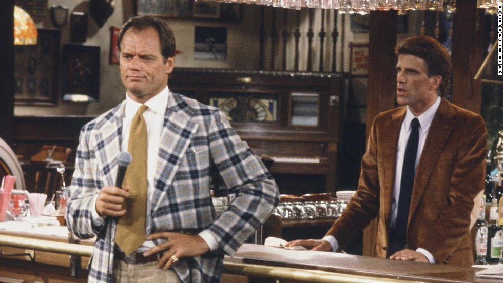 "Fred Dryer -- seen here, left, on ""Cheers"" with Ted Danson -- played Hunter on the NBC series of the same name. He was also a star NFL player, playing 13 seasons in the league. He's the only NFL player to score two safeties in one game."
