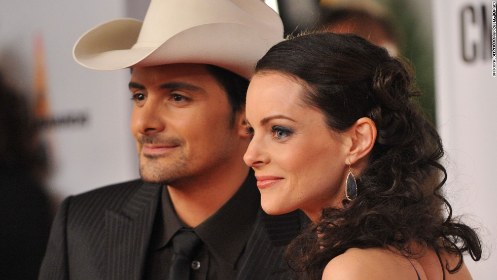 "<strong>Brad Paisley </strong>and<strong> Kimberly Williams-Paisley:</strong> Brad Paisley fell for ""Father of the Bride"" actress Kimberly Williams from the moment he saw her in the 1991 movie, which he liked so much he wrote the title track to ""Part II"" about the film. When the time came to film a music video for a single from that album, he sought out Williams to be the star. Never underestimate a man who knows what he wants: the pair married in 2003."