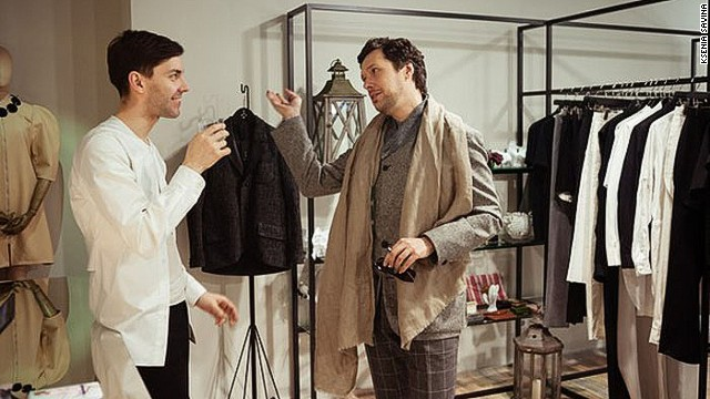 Designer Leonid Alexeev (left) is one of St. Petersburg's fashion gurus.