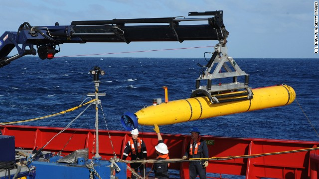 Underwater drone aborts first mission
