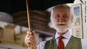 Happy when it pours: The umbrella man of Milan