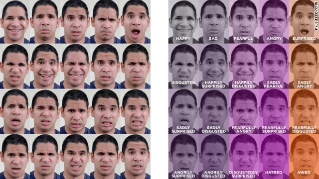 "Scientists have identified 15 new emotions such as ""sadly surprised."""