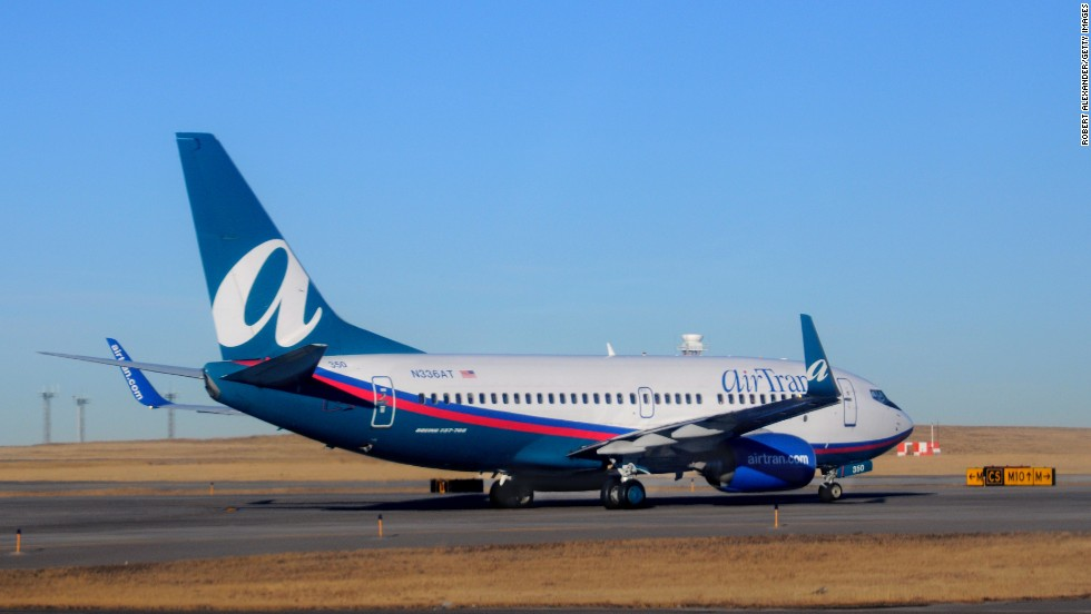 AirTran Airways ranks 10th for its 2013 performance.