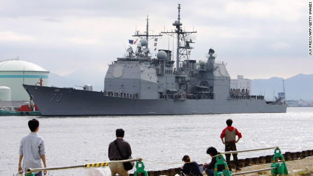 The Navy is planning to forward-deploy two additional AEGIS ballistic missile defense ships to Japan by 2017. Shown here is the USS Lake Erie, an example of that kind of ship.