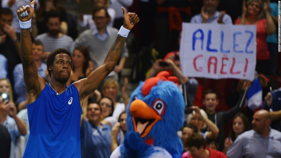 France went through in even more sensational fashion, coming back from 2-0 down against Germany as Gael Monfils beat Peter Gojowczyk in the deciding fifth rubber in Nancy.