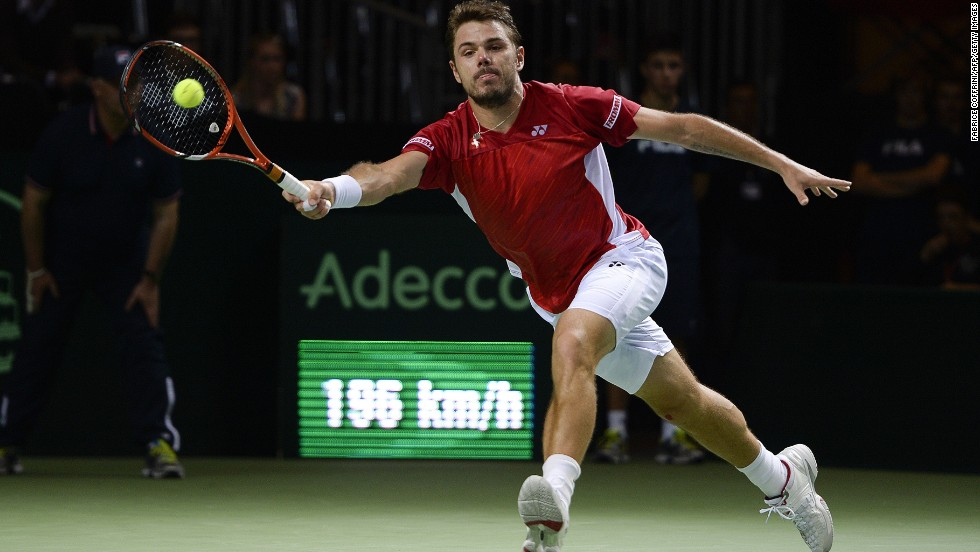 Stanislas Wawrinka leveled the tie after bouncing back from his singles defeat, and Saturday's doubles reverse alongside Federer. The Australian Open champion came from behind to beat Mikhail Kukushkin in four sets in Geneva.
