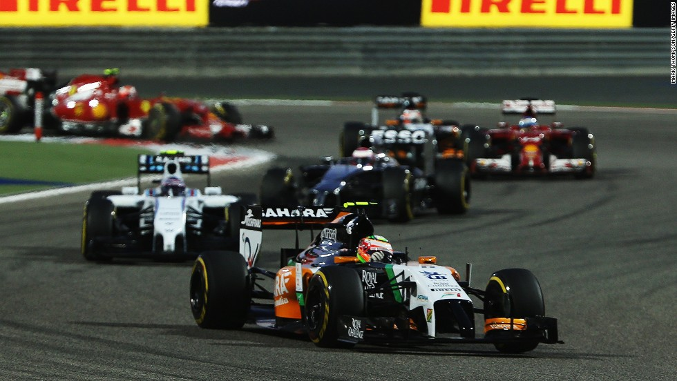 While the Mercedes duo tussled for victory, Sergio Perez gave Force India a surprise podium finish -- 23 seconds behind Rosberg.